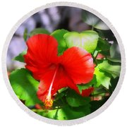 Tropical Burst Round Beach Towel