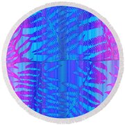 Tropical Delight Round Beach Towel by Holly Kempe