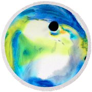 Tropical Fish 3 - Abstract Art By Sharon Cummings Round Beach Towel