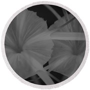Round Beach Towel featuring the photograph Tropical Garden by Miguel Winterpacht