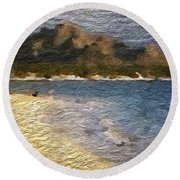 Tropical Getaway Round Beach Towel by Anthony Fishburne