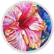 Tropical Hibiscus 4 Round Beach Towel