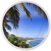 Round Beach Towel featuring the photograph Tropical Holiday by Daniel Sheldon