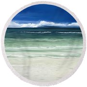 Tropical Ocean Round Beach Towel