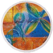 Tropical Sun Round Beach Towel