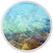 Round Beach Towel featuring the digital art Tropical Treasures by Anthony Fishburne
