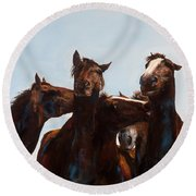Trouble Makers Round Beach Towel