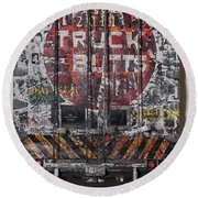 Truck Butts Round Beach Towel