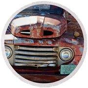 Ford In Goodland Round Beach Towel by Lynn Sprowl
