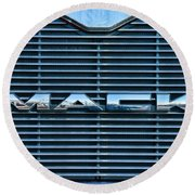 Truck - The Mack Grill Round Beach Towel