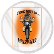 True Grit Round Beach Towel