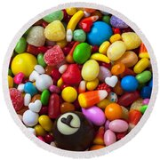 Truffle And Candy Round Beach Towel
