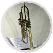 Trumpet IIi Round Beach Towel