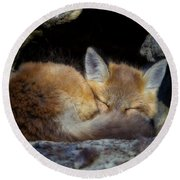 Fox Kit - Trust Round Beach Towel