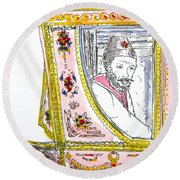 Tsar In Carriage Round Beach Towel
