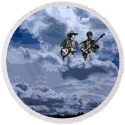 Tucker Boys In The Clouds 2 Round Beach Towel