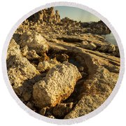 Tufa Rock Round Beach Towel