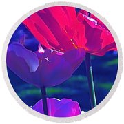 Round Beach Towel featuring the photograph Tulip 3 by Pamela Cooper