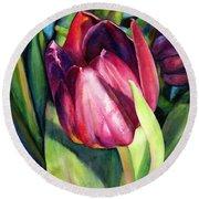 Tulip Delight Round Beach Towel