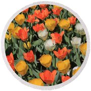 Tulip Stretch Round Beach Towel