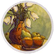 Tulips 1 Round Beach Towel