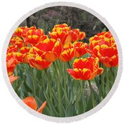 Tulips From Brooklyn Round Beach Towel by John Telfer