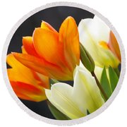 Round Beach Towel featuring the photograph Tulips by Marilyn Wilson