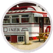 Tumble Inn Diner Claremont Nh Round Beach Towel