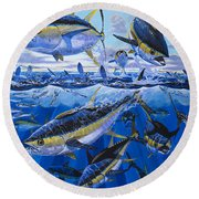 Tuna Rampage Off0018 Round Beach Towel