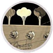 Fender Precision Bass Round Beach Towel by Chris Berry