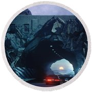 Tunnelvision Round Beach Towel by Blue Sky