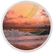 Round Beach Towel featuring the photograph Turbulence  by Eti Reid
