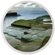 Turimetta Beach Sunrise Round Beach Towel