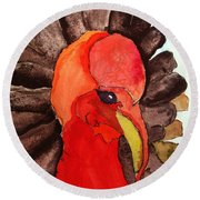 Turkey In Waiting Round Beach Towel