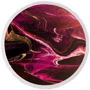 Round Beach Towel featuring the photograph Turmoil by Mike Breau