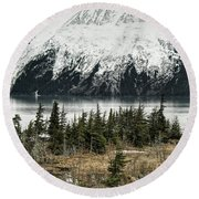 Turnagain Arm  Round Beach Towel