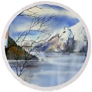 Turnagain View Round Beach Towel