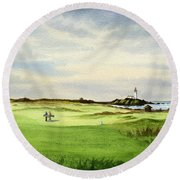 Turnberry Golf Course Scotland 12th Tee Round Beach Towel