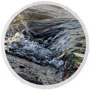 Turnstone By The Water Round Beach Towel
