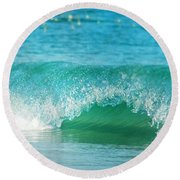 Turquois Waves  Round Beach Towel