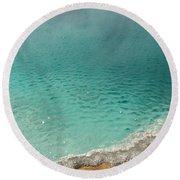 Turquoise Jewels Round Beach Towel