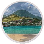Turquoise Paradise Round Beach Towel by Hanny Heim