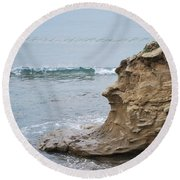 Turquoise Sea Round Beach Towel by George Katechis
