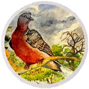 Turtle - Dove Round Beach Towel