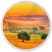 Tuscan Dream Round Beach Towel
