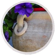 Tuscan Pot Round Beach Towel