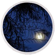 Twilight Moon Round Beach Towel