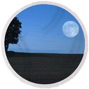 Round Beach Towel featuring the photograph Twilight Solitude by Sharon Elliott