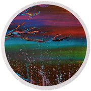 Twilight Sun Round Beach Towel
