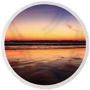 Cardiff By The Sea Glow Round Beach Towel
